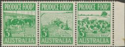 SG 255a ACSC 287f. Produce Food - 3d Food strip (AE1/42)